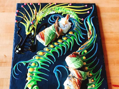 Un restaurante de Chicago realiza estas obras de arte cada día para que tú las destroces comiendo sushi