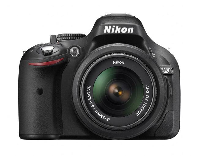Nikon D5200 de frente