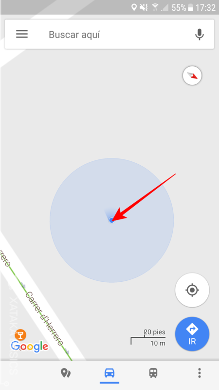 Pulsar Sobre Boton Azul De Tu Localizacion