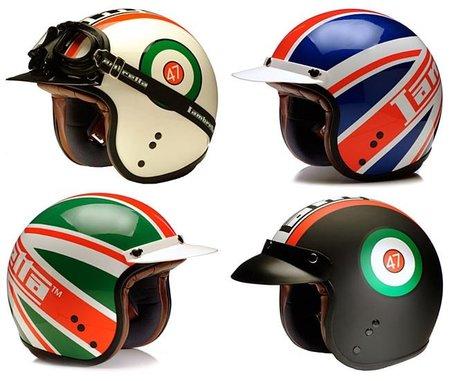 Heritage Helmets, casco retro luciendo el logo de Lambretta