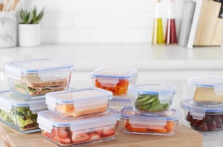 Los tuppers de cristal más prácticos para conservar y llevar a la oficina nuestros menús semanales