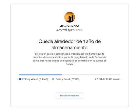 Tiempo de almacenamiento en Google Fotos