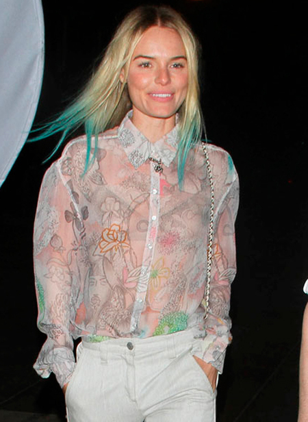 kate bosworth mechas azules