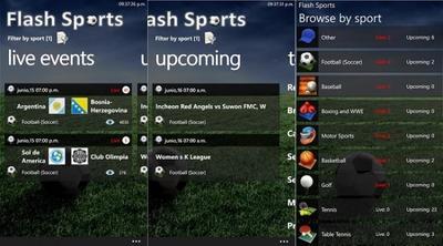 Flash Sports, mira los partidos del mundial desde tu Windows Phone