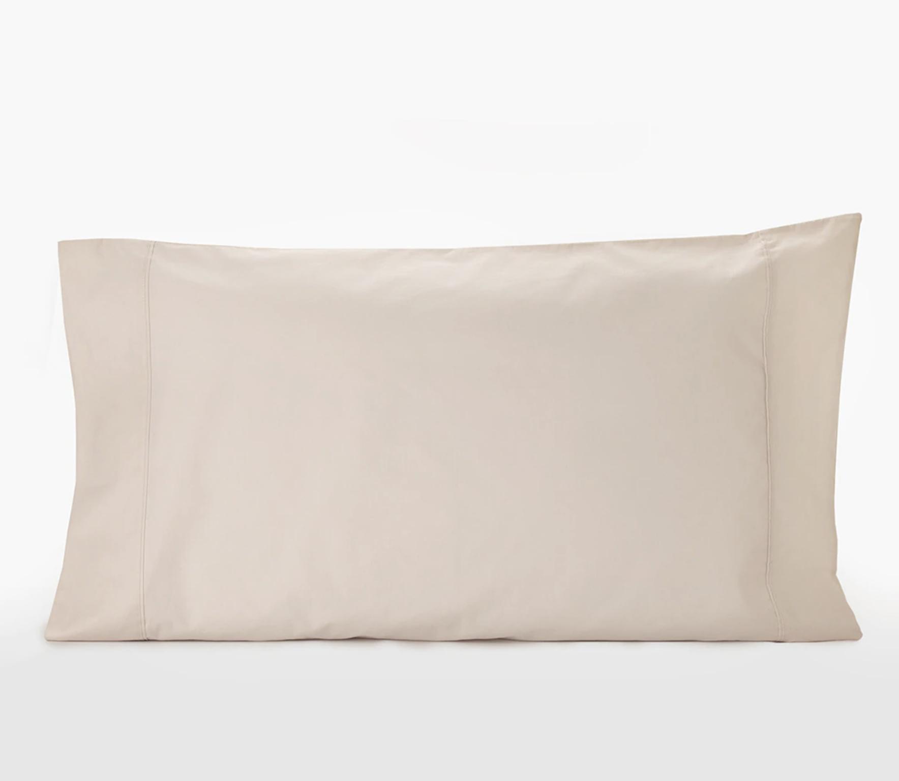 Funda de almohada algodón orgánico arena 300 hilos Sheridan