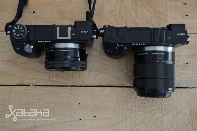 Sony NEX 6 comparativa con NEX 7