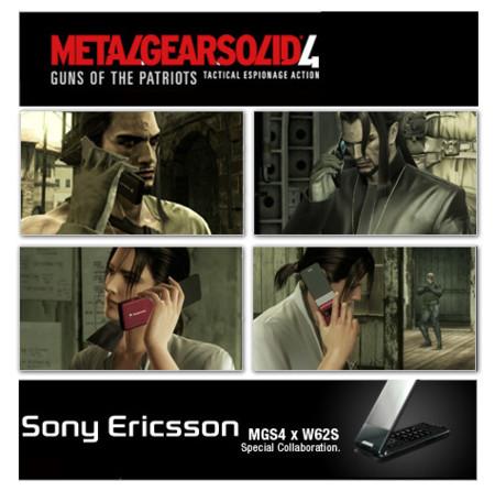 Sony Ericsson W62S en Metal Gear Solid 4