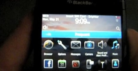 BlackBerry Bold 9780 corriendo BlackBerry OS 6.0 en vídeo