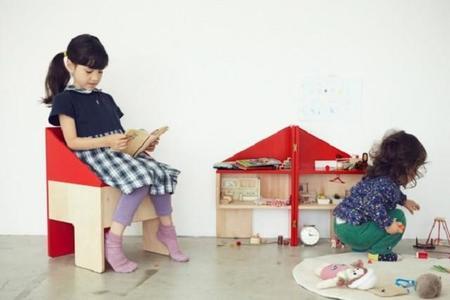 La casa de muñecas que se convierte en silla de escritorio