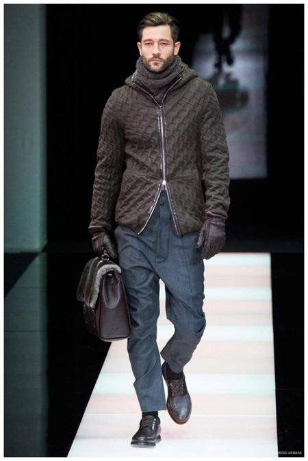 Giorgio Armani Menswear Fall Winter 2015 Collection Milan Fashion Week 020