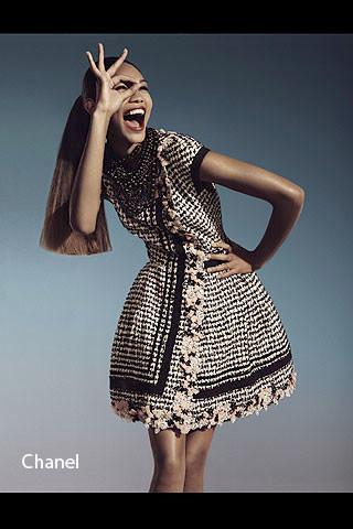 Chanel Iman luce moda española para Vogue España