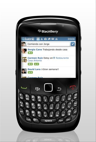 Tuenti para usuarios de BlackBerry, en exclusiva con Vodafone