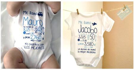 """""""Mi primer body"""": una bonita manera de tener para siempre los datos de tu bebé al nacer"""