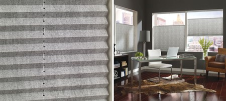Pleated Shades In Herringbone With Detailplisadasrect