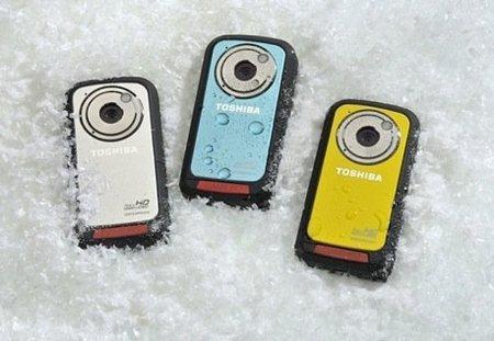 Videocámara Toshiba Camileo BW10, resistente al agua y de alta resolución