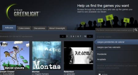 Steam Greenlight ya está en marcha y cuenta con más de 500 títulos sujetos a la decisión de los usuarios