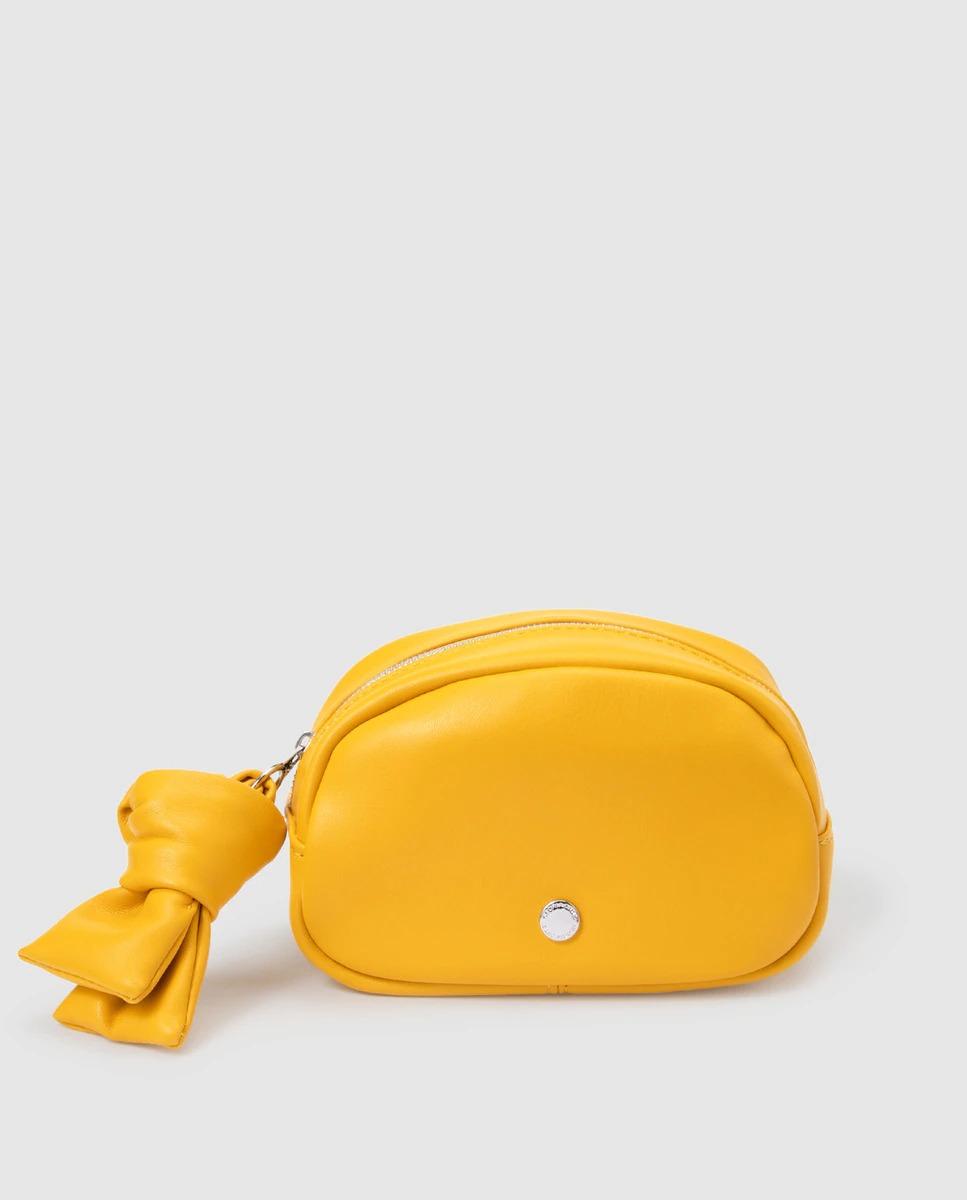 Neceser pequeño de mujer Gloria Ortiz en amarillo con cremallera