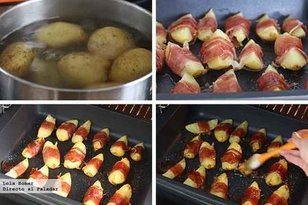 Patatas Envueltas En Jamon Paso A Paso