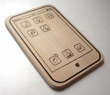 Tabla de cortar con forma de iPad