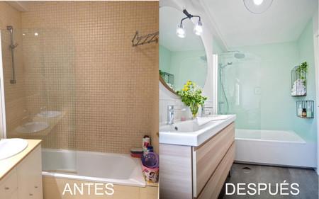 Antes y después: un baño que ha sufrido una transformación total sin necesidad de obra