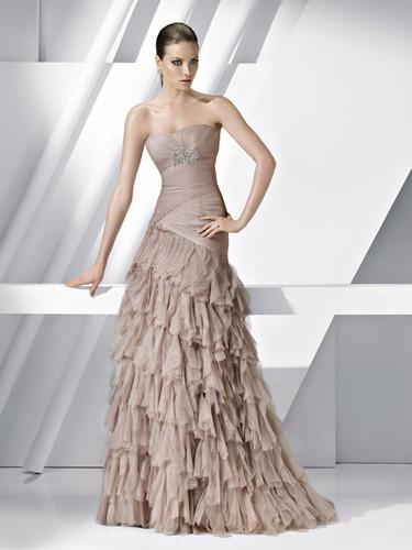 Pronovias vestidos de fiesta 2012: quiero uno en color pastel