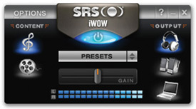 interfaz de SRS iWow