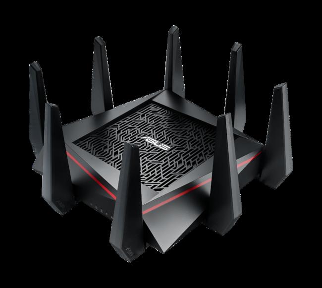 Esta bestia de router de ASUS tiene 8 antenas y es el más rápido del mundo