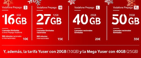 Oferta Navidad Prepago Vodafone