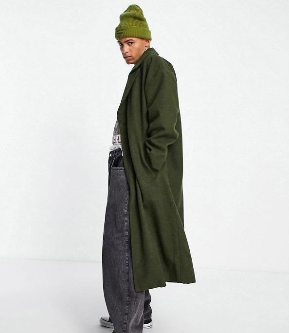 Abrigo largo verde de Reclaimed Vintage Inspired