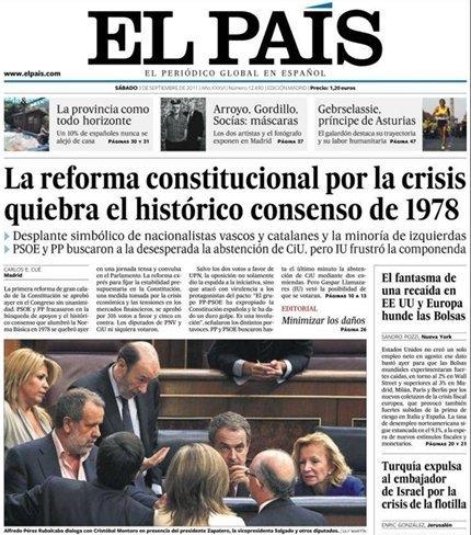 Ecos del día que se quebró el consenso del 78 y dos partidos privatizaron la Constitución