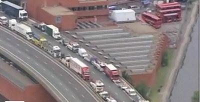 Inglaterra también tiene su huelga de camioneros