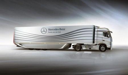 Mercedes presenta el Aero trailer, 18% menos resistencia aerodinámica, 5% menos consumo