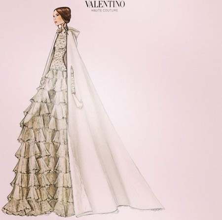 Tatiana Santo Domingo eligió a Valentino y para sus invitadas, manoletinas de Louboutin