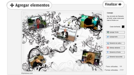 Photovisi, crea collages online con bastantes plantillas