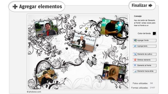 Photovisi, crea collages online con bastantes plantillas