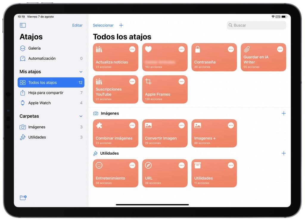 Así podemos crear carpetas en la app Atajos de iOS 14 o iPadOS 14