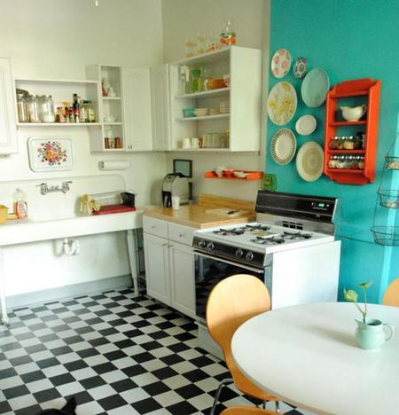 Cocinas llenas de color atr vete con alguna de estas for Cocinas con colores vivos