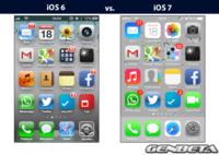 "Cambio de ""look"": de iOS 6 a iOS 7"