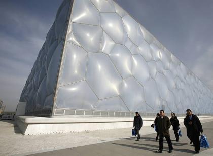 "El ""Cubo de Agua"", arquitectura vanguardista en Pekín"