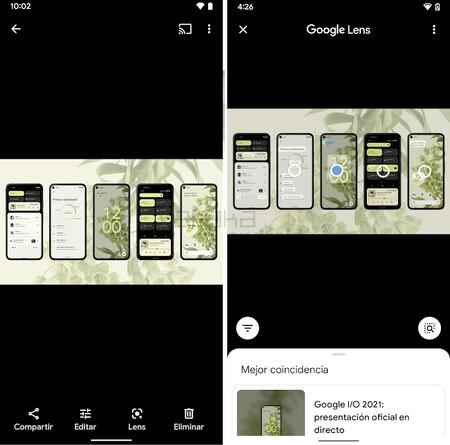 Google Fotos Lens