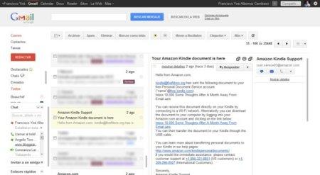 Gmail agrega un panel de vista previa de correos, al estilo Hotmail/Yahoo Mail