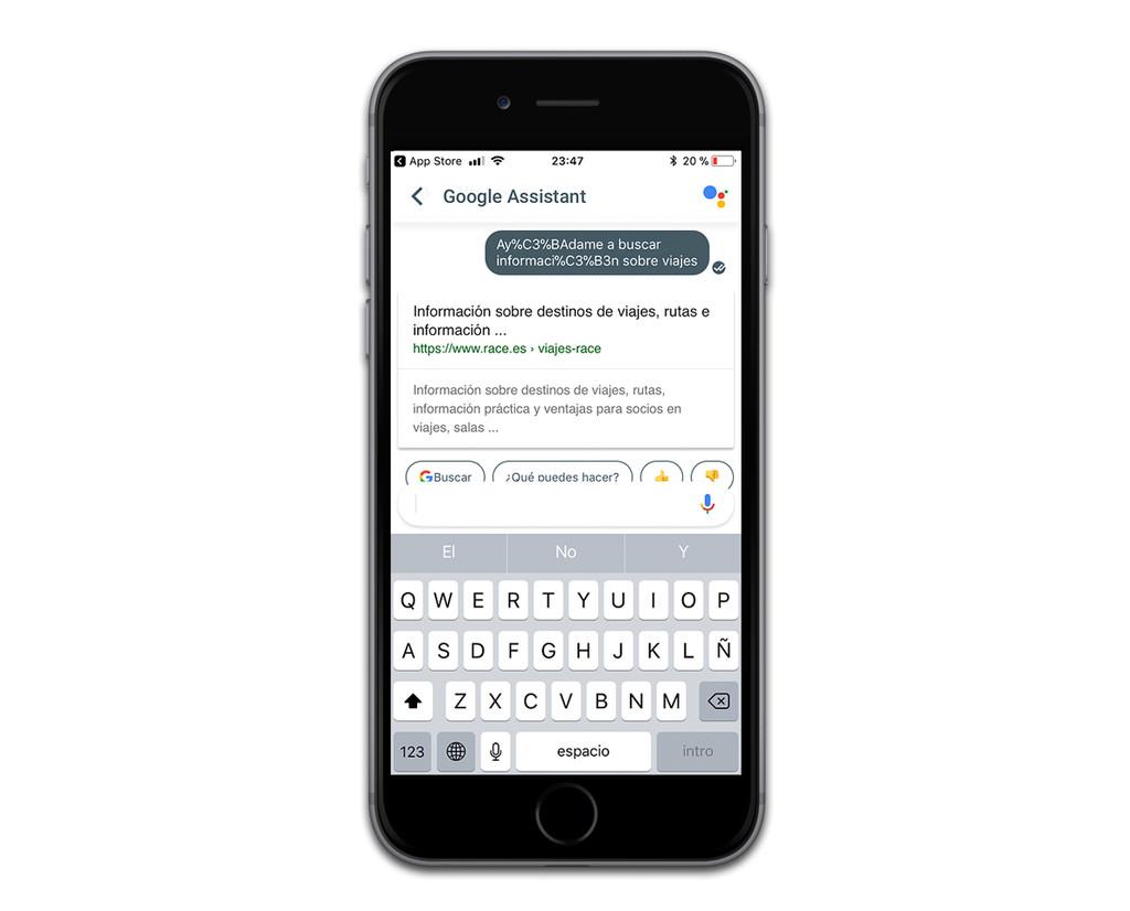 Google Assistant Tildes Ios