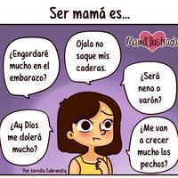 Las 20 graciosas ilustraciones de una madre que narran el día a día de la maternidad