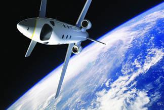 Viaje al espacio en jet de pasajeros