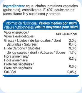 Info Nutricional Inco Ligera