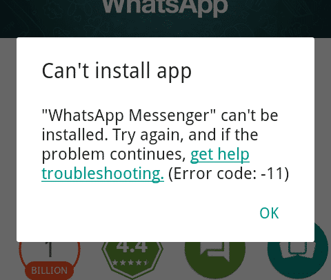 Can T Install 11
