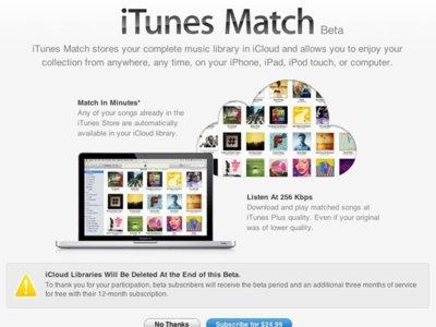 iTunes Match también ofrecerá streaming: llega la nueva beta de iTunes