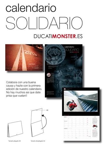 Calendarios solidarios desde Ducatimonster.es