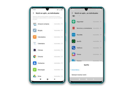 Xiaomi Mi Note 10 Ajustes Pantalla Notch