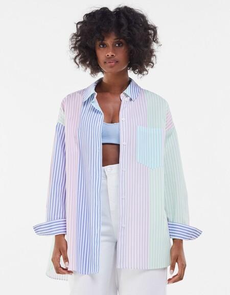 Bershka Camisa Clon Rayas 01